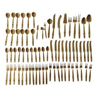 Thai Bronze Flatware - 70 Pieces