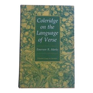 Vintage Book Coleridge on the Language of Verse