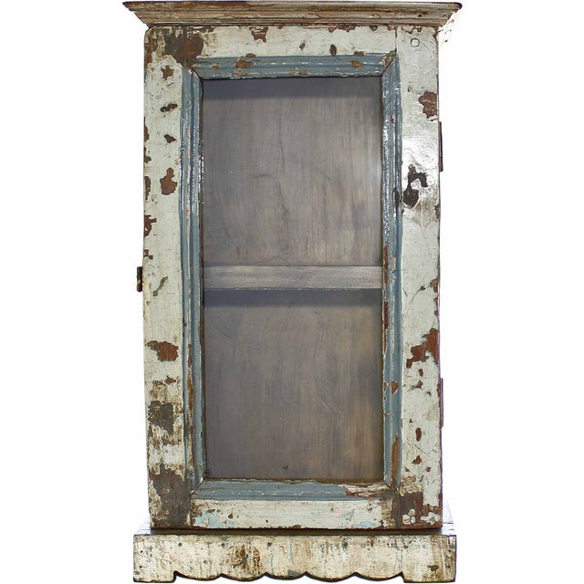 Image of Light Gray Architectural Showcase Wall Cabinet