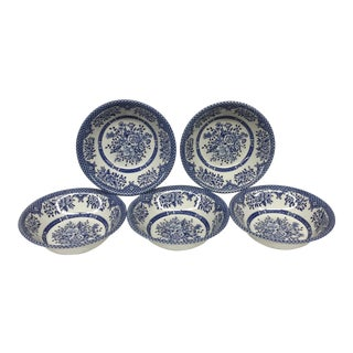 Ironstone Salad Bowls Made in England - Set of 5
