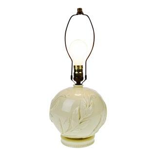 Vintage Floral Relief Ceramic Table Lamp