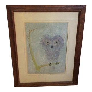 Vintage Owl Drawing
