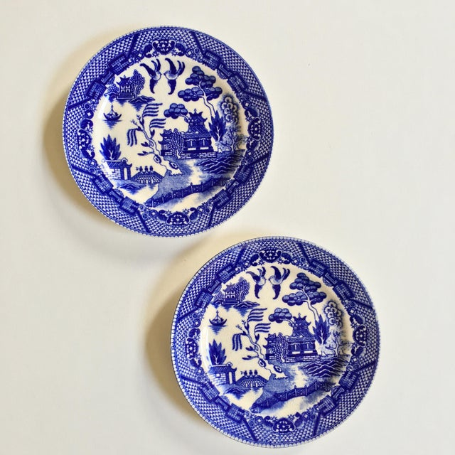 "Antique ""Blue Willow"" Pattern Plates - A Pair - Image 3 of 6"
