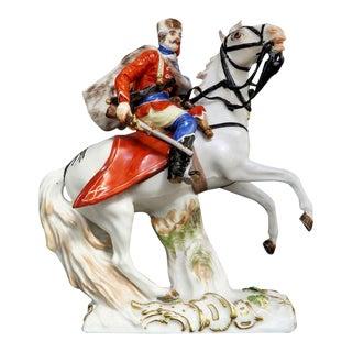 Meissen Horse Riding Porcelain Figuine