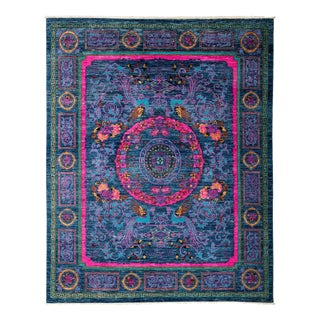 """Suzani Hand Knotted Area Rug - 7' 10"""" X 9' 10"""""""