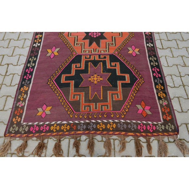 Hand-Woven Turkish Runner - 5′6″ × 13′2″ - Image 9 of 10