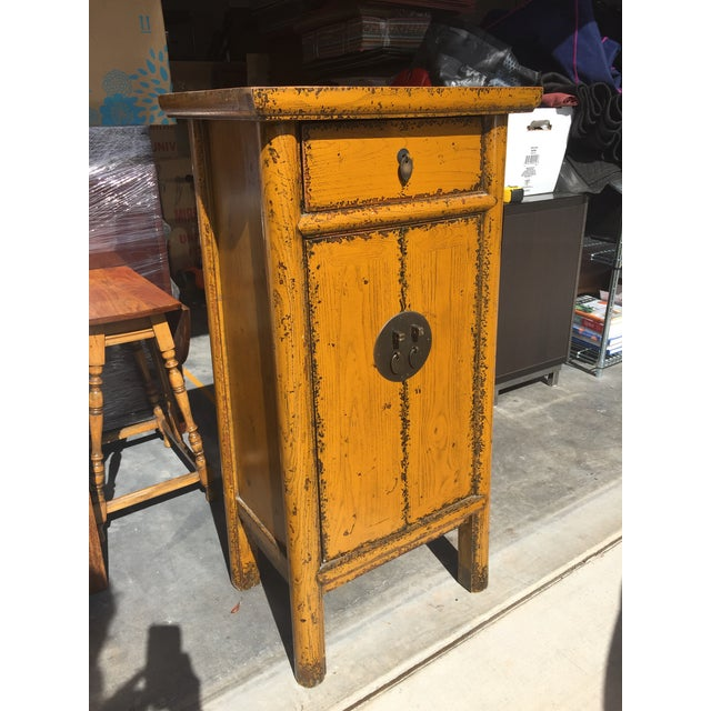 Chinese Golden Yellow Cabinet - Image 3 of 5