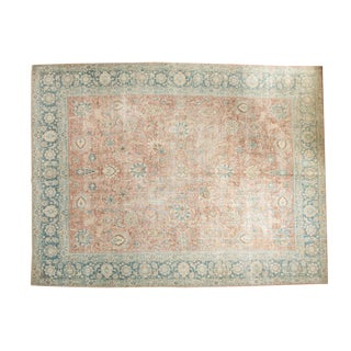 "Vintage Distressed Tabriz Carpet - 10'8"" x 13'11"""