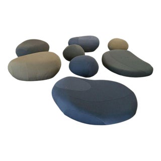 """Living Stones"" Fabric Seats - Set of 9"