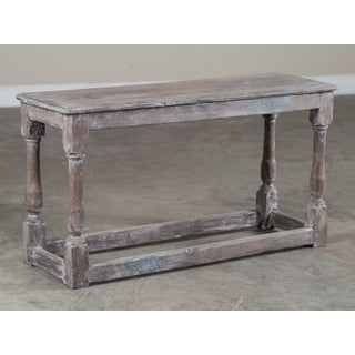 Antique English Limed Oak Joint Bench circa 1890