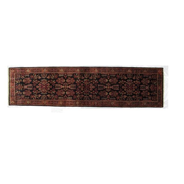 "Persian Sarouk Wool Runner Rug - 10'3"" x 2'7"" - Image 1 of 3"
