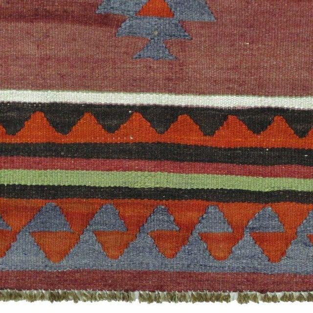 Maroon Vintage Turkish Kilim - 6'' x 10'9'' - Image 5 of 5