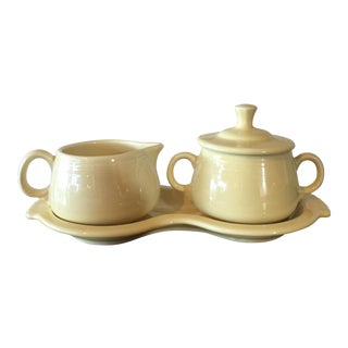 Fiestaware Yellow Cream & Sugar Set