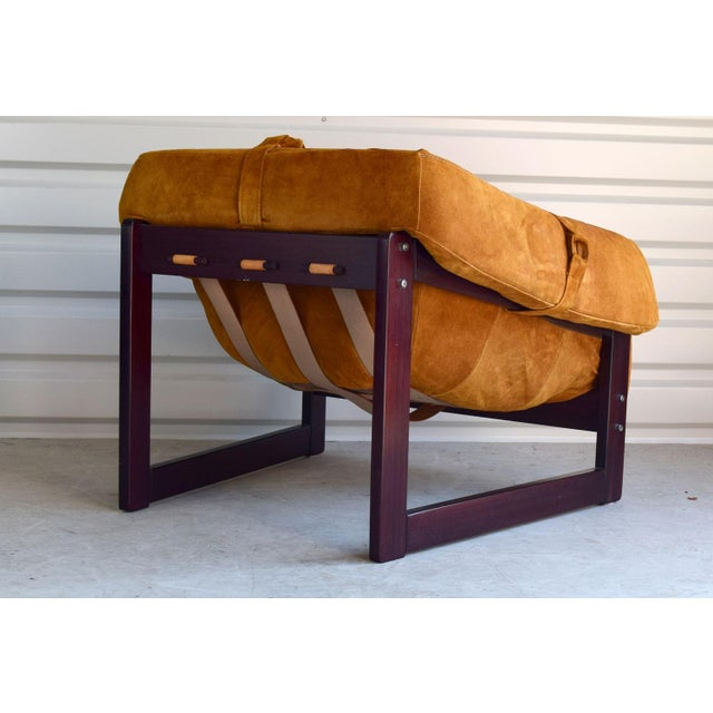Percival Lafer Brazilian Rosewood & Suede Lounge Chairs - A Pair - Image 2 of 11