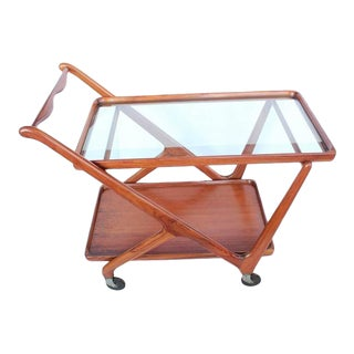 Mid-Century Italian Serving Cart by Cesare Lacca for Cassina