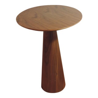 Round Wood Accent Table