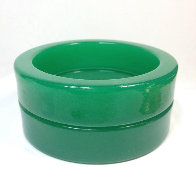 Image of Green Acrylic Bangles - Pair
