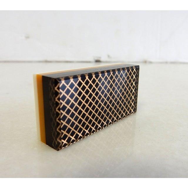 Rare Herman Miller Leather Case Poker Game/Domino - Image 7 of 9