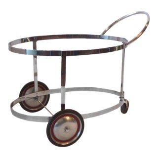 Moderne Chrome Drinks Cart in the Style of Donald Deskey