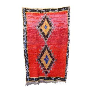 "Vintage Moroccan Boucherouite Rug - 5'2"" X 8'4"""