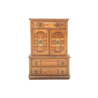 Neoclassical Style Chest on Chest Dresser