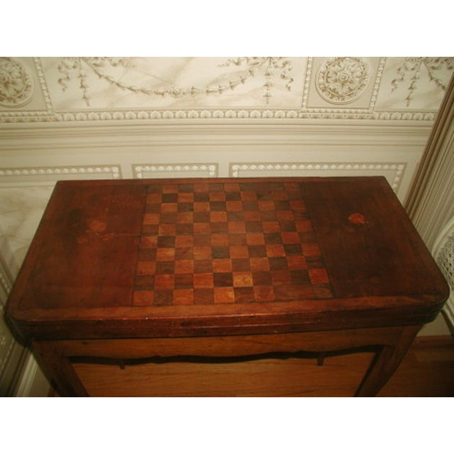 Image of C.1850 French Game Table Inlaid Walnut Fruitwood