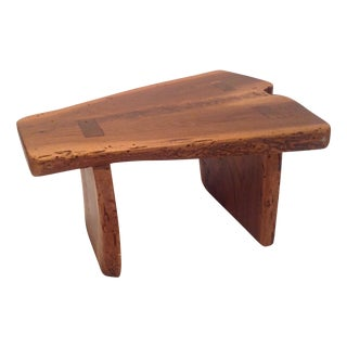 Directional Live Edge Stool with Mortised Legs