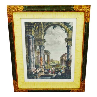 Giovanni Paolo Pannini Framed Hand Colored Engraving