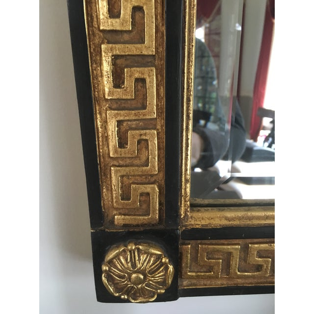 Image of Greek Key Black & Gold Mirror