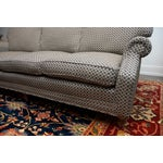 Image of Calico Corners Brown & White Sofa