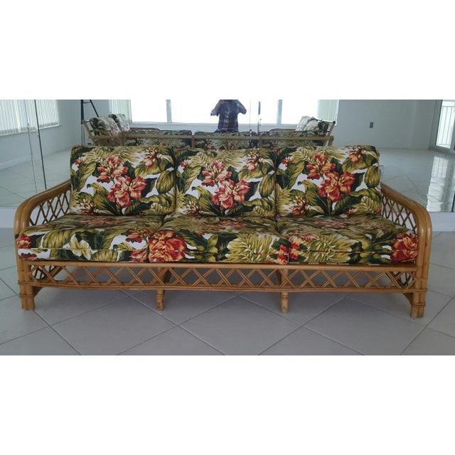 Ficks Reed Mid-Century Rattan Sofa - Image 3 of 3