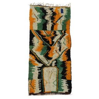 Vintage Moroccan Contemporary Abstract Design Berber Rug - 3′5″ × 7′1″