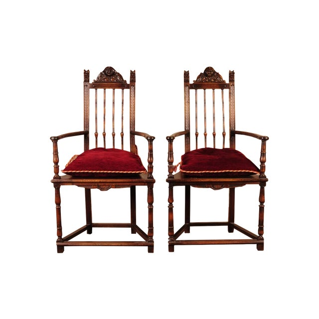 19th Century Reinassance Side Chairs - A Pair - Image 1 of 11