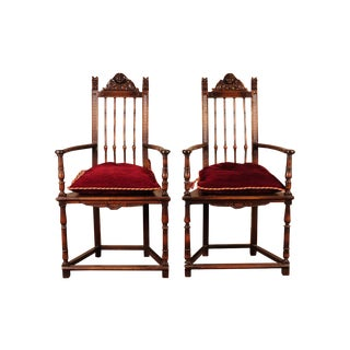 19th Century Reinassance Side Chairs - A Pair