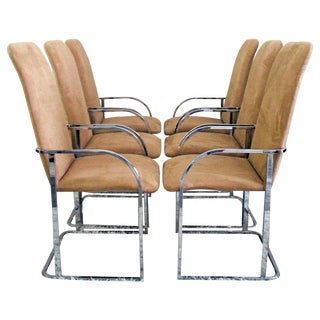Milo Baughman DIA Chrome Dining Chairs - Set of 4