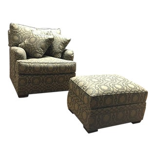 Accent Armchair W/ Pillows & Ottoman - Set of 4