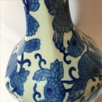 Image of Tall Blue & White Chinoiserie Vase