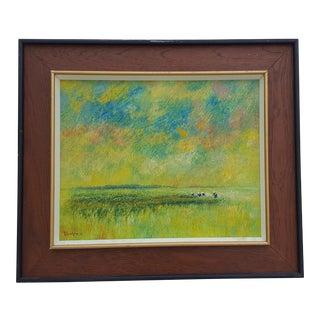 1971 Tomas Inarzon Bangkok Thailand Oil Impasto Painting .