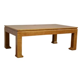 Karl Springer Style Coffee Table