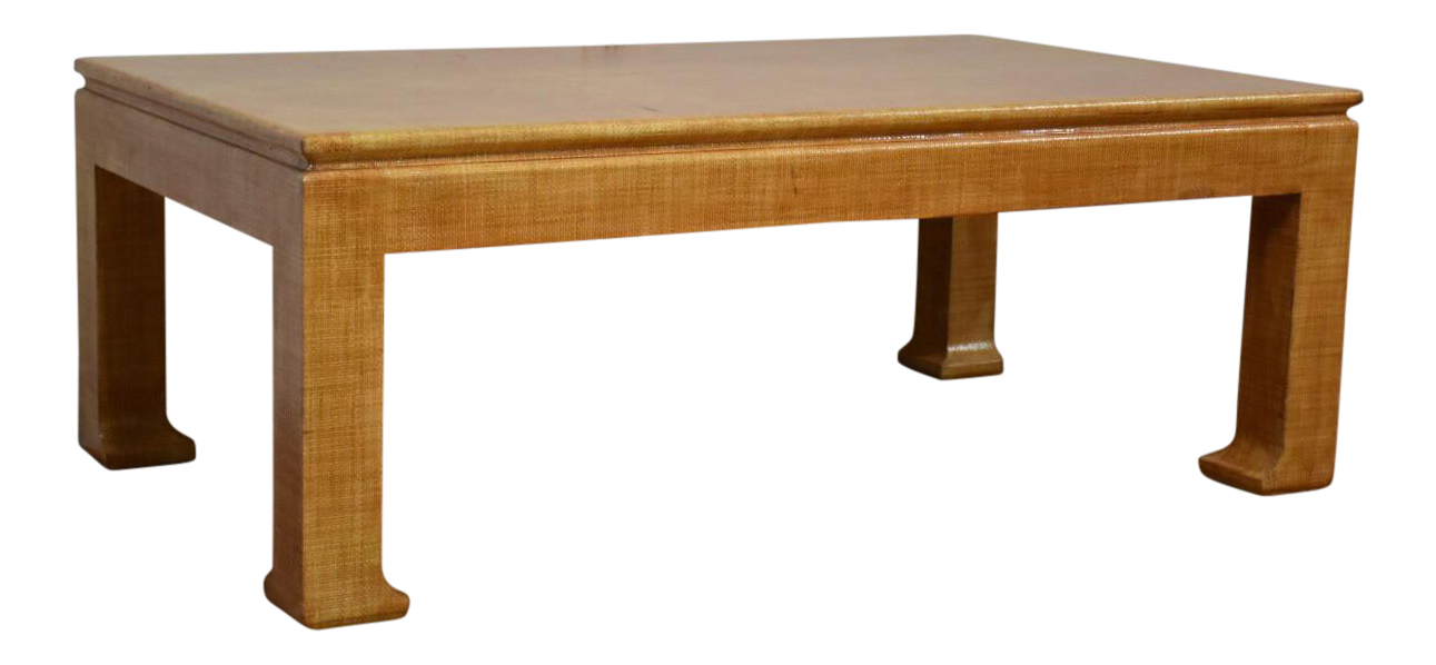 Karl Springer Style Coffee Table