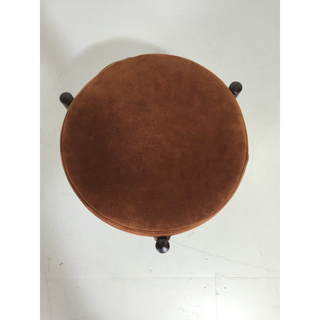 Image of Danish Suede and Rosewood Stool