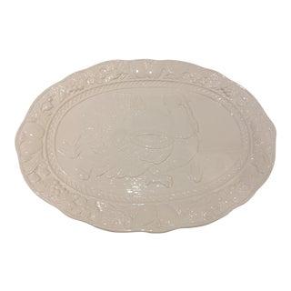 Vintage White Large Turkey Platter