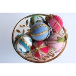 Image of Vintage Hand-Beaded Christmas Ornaments - Set of 8