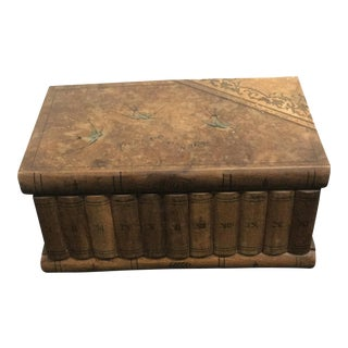 Wooden Faux Book Jewel Box