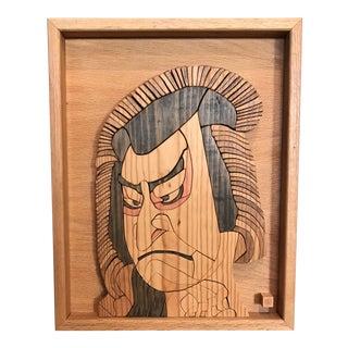 Japanese Wood Portrait of a Man