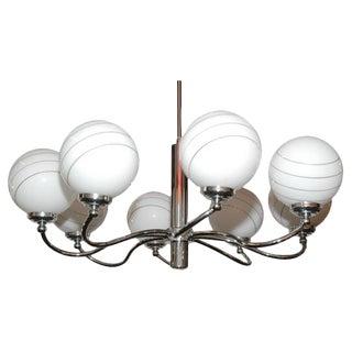 Eight Light Chrome Chandelier