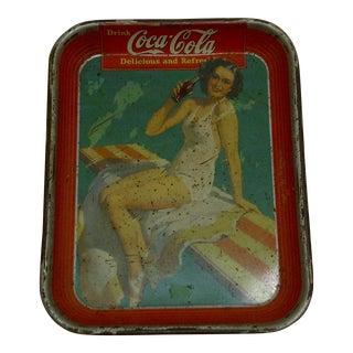 Circa 1930 Vintage Coca Cola Beverage Serving Tray