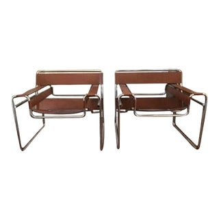 Marcel Breuer Wassily Chairs by Gavina for Knoll - A Pair