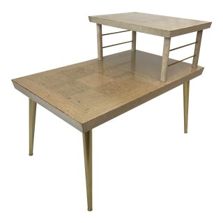 1956 Lane Altavista Blonde Two Tiered Side Table
