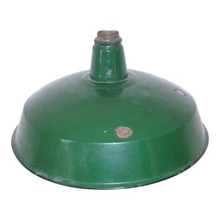 Vintage Industrial Green Gas Station Lamp Shade